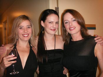 Anna, Leah and Kerry from GODIVA on Patrizio Buanne' tour