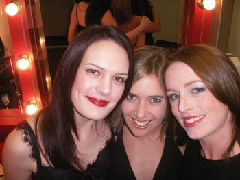 Leah, Anna and Kerry from GODIVA backstage - Patrizio Buanne' tour