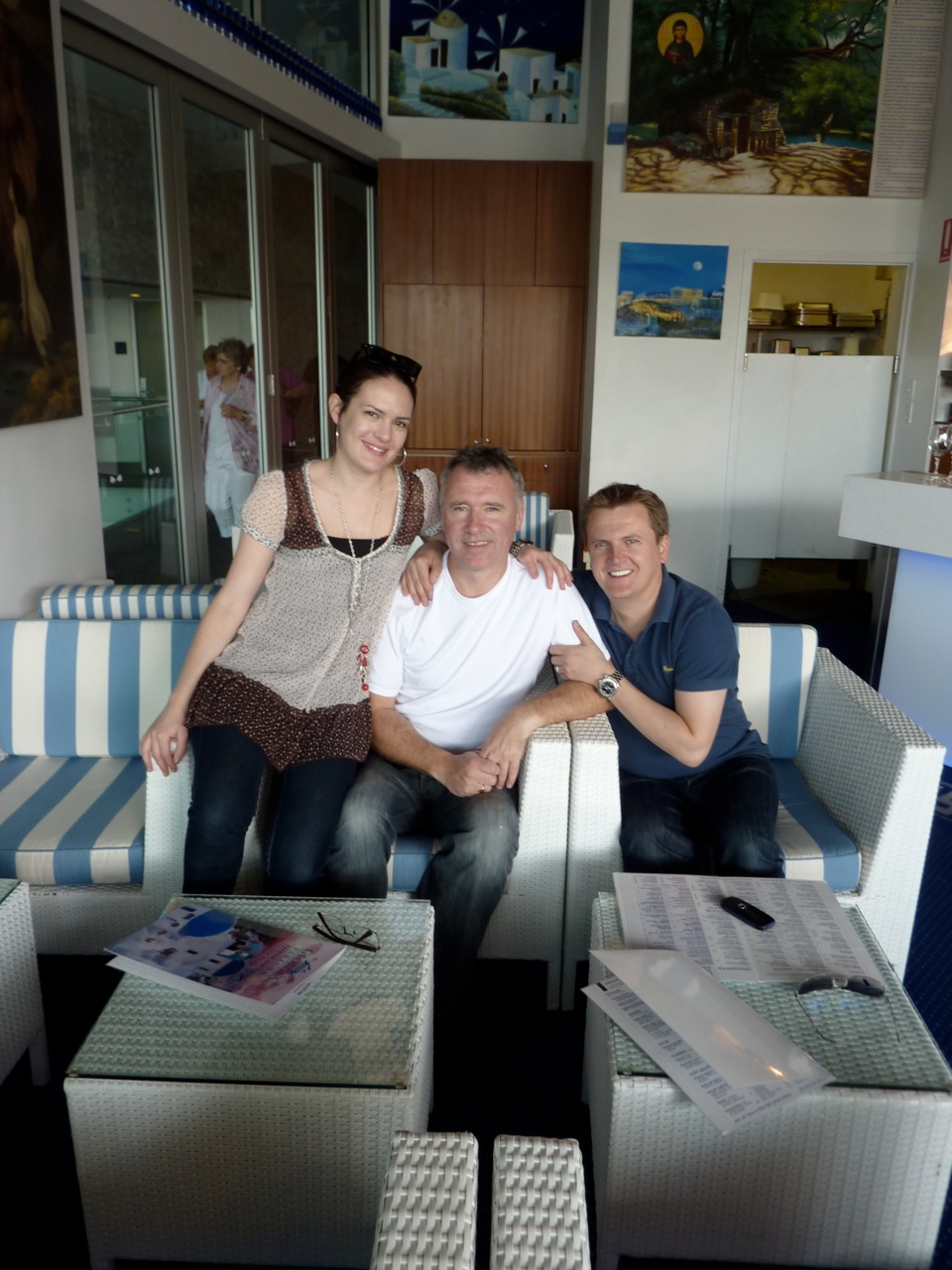 Leah on tour with Aled Jones and his Musical Director Robert Scott - Twin Towns