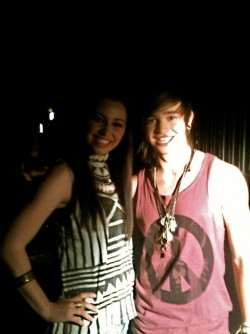 With Reece Mastin for X Factor @ Fox Studios - Sydney