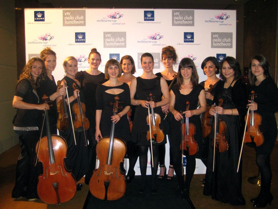 The STRING SIRENS after performing with Il Divo @ Crown Casino - Melbourne