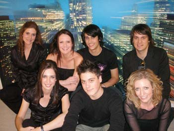 STRING SIRENS backstage at Rove Live with Teddy Geiger and band - Sydney