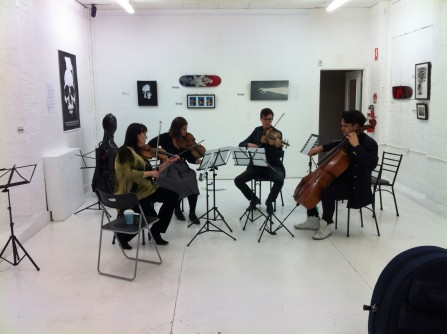 Sound-check, Purcell Fantasias, ENSEMBLE URBANE @ Artboy Gallery - Melbourne