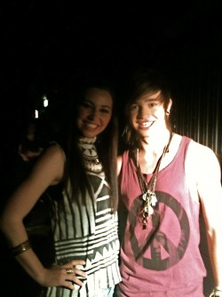 With Reece Mastin for X-Factor @ Fox Studios - Sydney