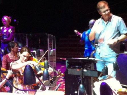 In rehearsal for Michael Bolton @ Sydney Opera House