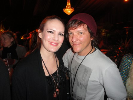 Leah backstage with Chris Lilley - Splendour In The Grass - Byron Bay.
