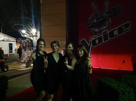 The String Sirens on the red carpet for The Voice Australia @ Fox Studios - Sydney