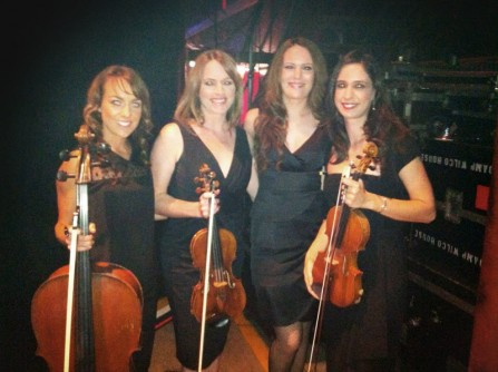 The String Sirens side of stage for The Voice Australia @ Fox Studios - Sydney