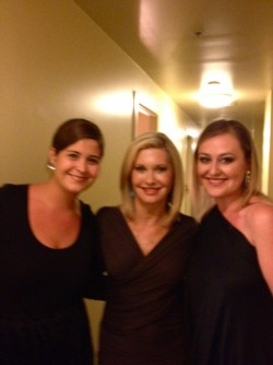 Backstage with Olivia Newton-John - Melbourne