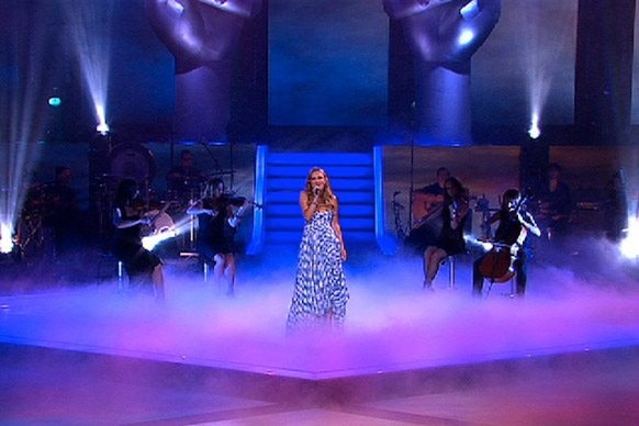 The String Sirens performing live with Brittany Cairns on The Voice Australia @ Fox Studios - Sydney