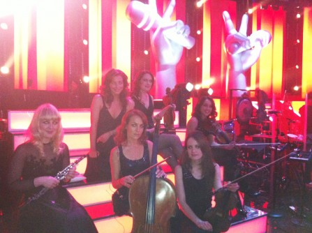 String Source/Philharmonia Australia in rehearsal for The Voice Australia @ Fox Studios - Sydney