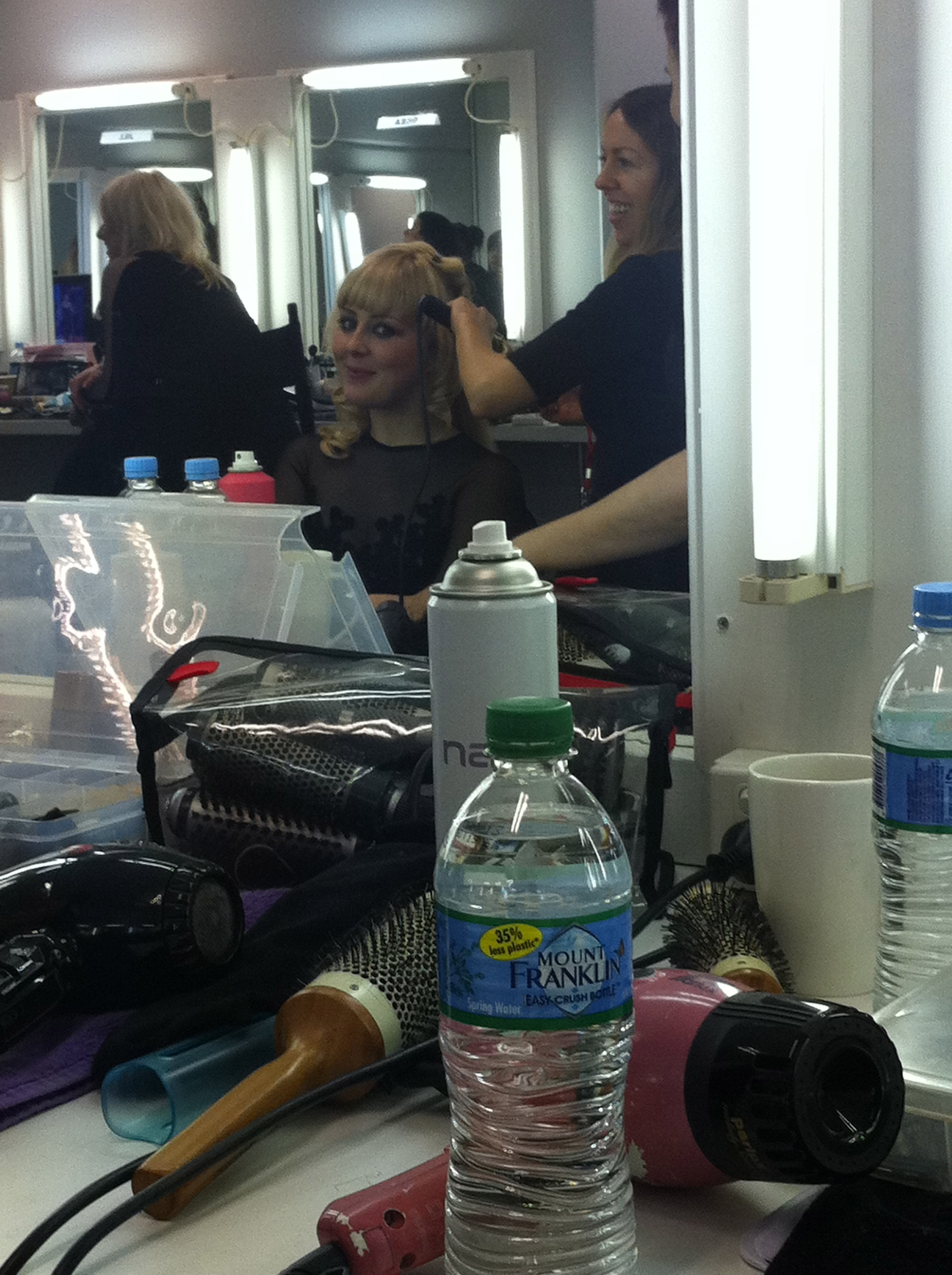 In makeup for The Voice Australia @ Fox Studios - Sydney