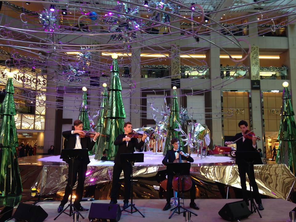 HOMME string quartet perform in Hong Kong over Christmas