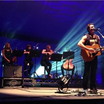 Onstage with Pete Murray at Leeuwin Estate Winery - Margaret River, Western Australia