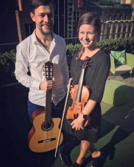 Violin and Guitar duo for a corporate event, Sydney.